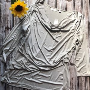 COPY - NWT Ny & Co silver cowl neck blouse